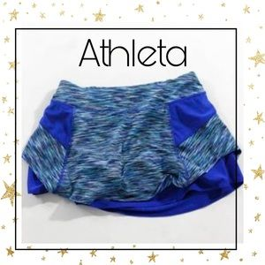 Athleta Blue White Blk Activewear Skort XXS